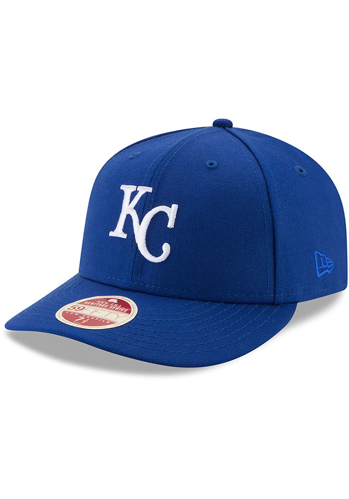 New Era Kansas City Royals Mens Blue Vintage 59FIFTY Fitted Hat - Image 1