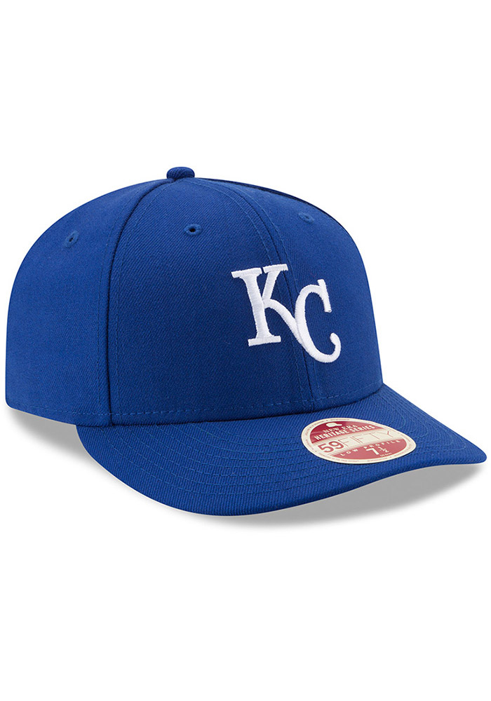 New Era Kansas City Royals Mens Blue Vintage 59FIFTY Fitted Hat - Image 2