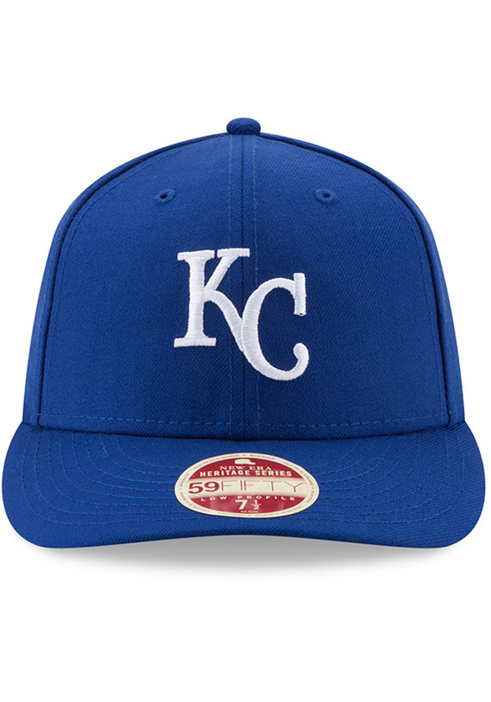 New Era Kansas City Royals Mens Blue Vintage 59FIFTY Fitted Hat - Image 3