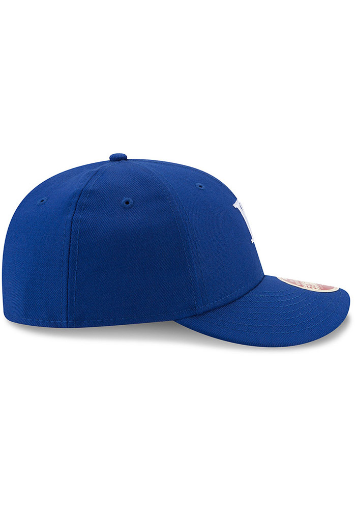New Era Kansas City Royals Mens Blue Vintage 59FIFTY Fitted Hat - Image 6