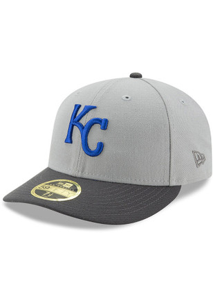 Kansas City Royals New Era Mens Grey Glory 59FIFTY Fitted Hat