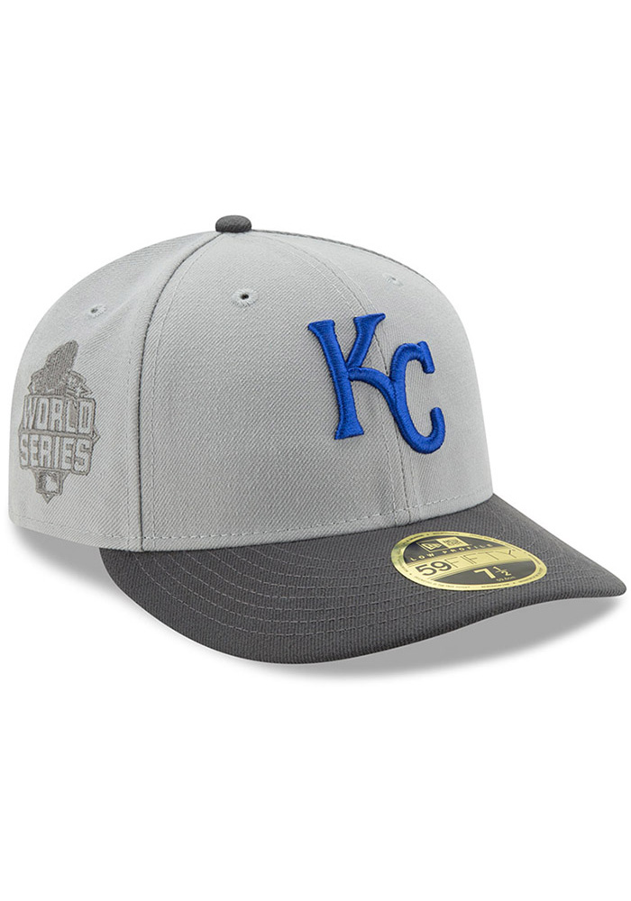 New Era Kansas City Royals Mens Grey Glory 59FIFTY Fitted Hat - Image 2