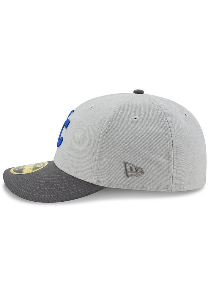 New Era Kansas City Royals Mens Grey Glory 59FIFTY Fitted Hat - Image 4