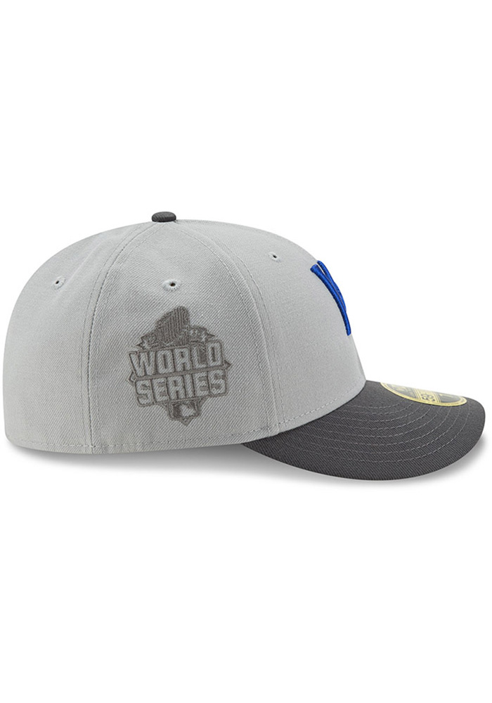 New Era Kansas City Royals Mens Grey Glory 59FIFTY Fitted Hat - Image 6