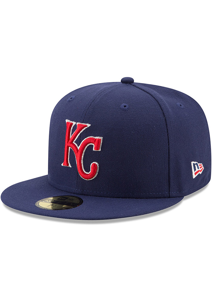 best loved a9fc8 a1188 ireland new era kansas city royals mens navy blue patriotic trim 59fifty  fitted hat image 1