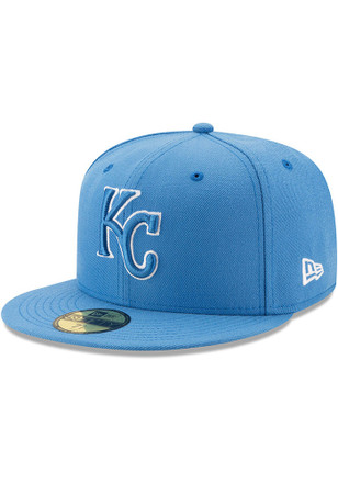 Kansas City Royals New Era Mens Blue Basic 59FIFTY Fitted Hat