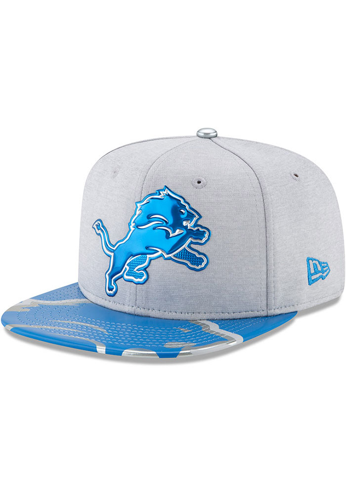 Detroit Lions Grey 2017 On-Stage 9FIFTY Youth Snapback Hat - Image 1