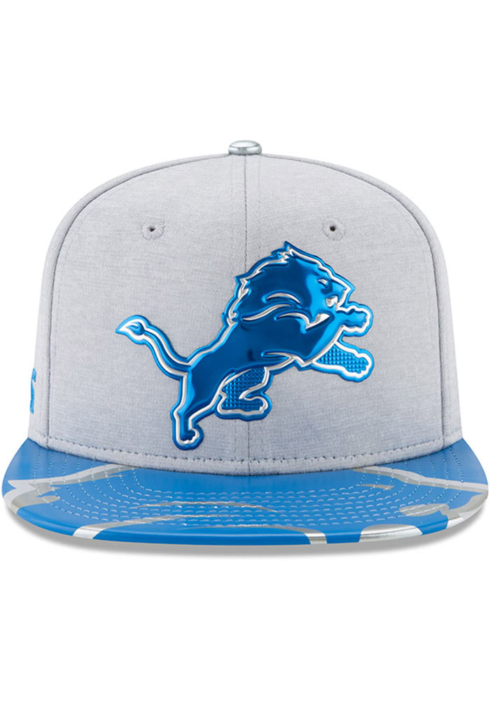 Detroit Lions Grey 2017 On-Stage 9FIFTY Youth Snapback Hat - Image 7