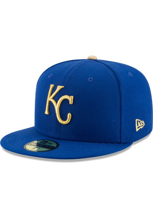 KC Royals New Era Mens Blue Alt AC 59FIFTY Fitted Hat
