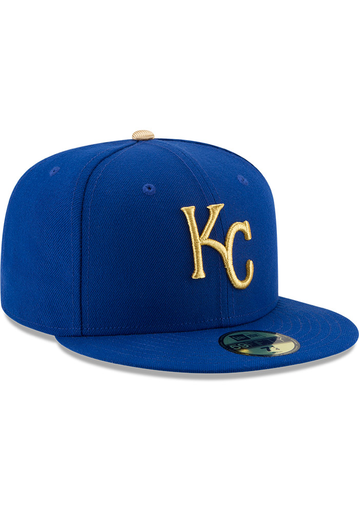 Kansas City Royals Mens Blue Alt AC 59FIFTY Fitted Hat - Image 2