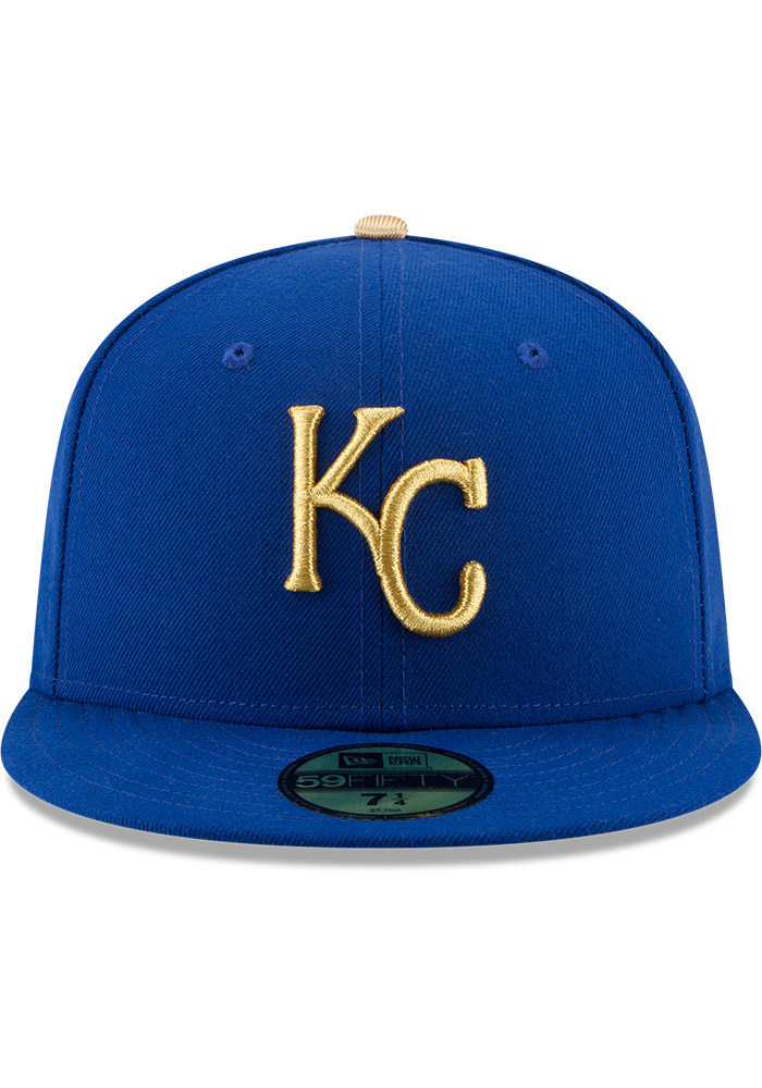 Kansas City Royals Mens Blue Alt AC 59FIFTY Fitted Hat - Image 3