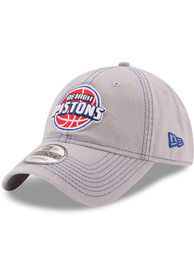 New Era Detroit Pistons Core Classic Pop 9TWENTY Adjustable Hat - Grey
