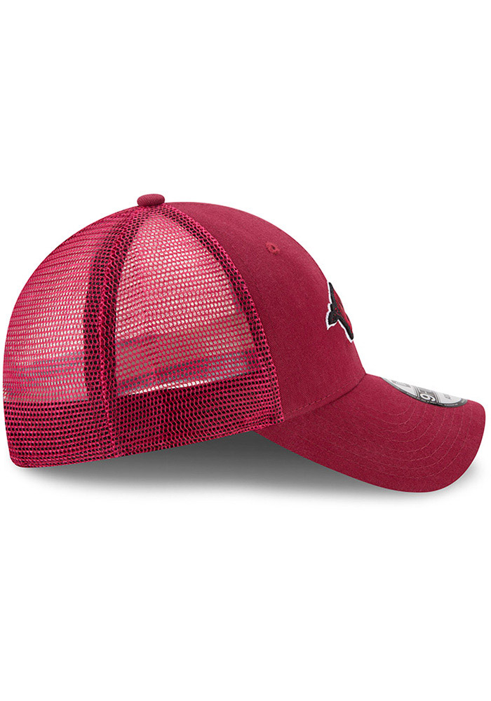 New Era Arkansas Razorbacks Trucker Washed 9FORTY Adjustable Hat - Cardinal - Image 6