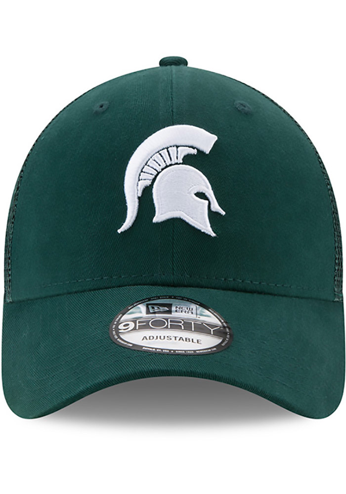 Michigan State Spartans Green Trucker Washed 9FORTY Youth Adjustable Hat - Image 3