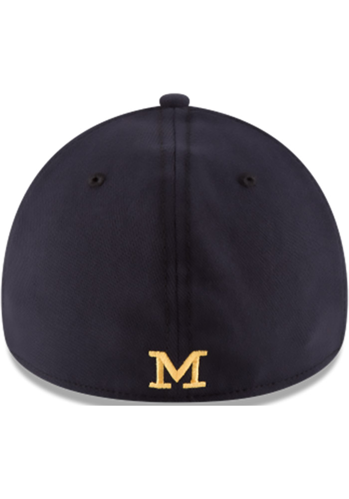 9d96f5f79d1 New Era Michigan Wolverines Mens Navy Blue Classic 39THIRTY Flex Hat -  Image 3