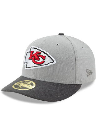 Kansas City Chiefs New Era Mens Grey Glory 59FIFTY Fitted Hat