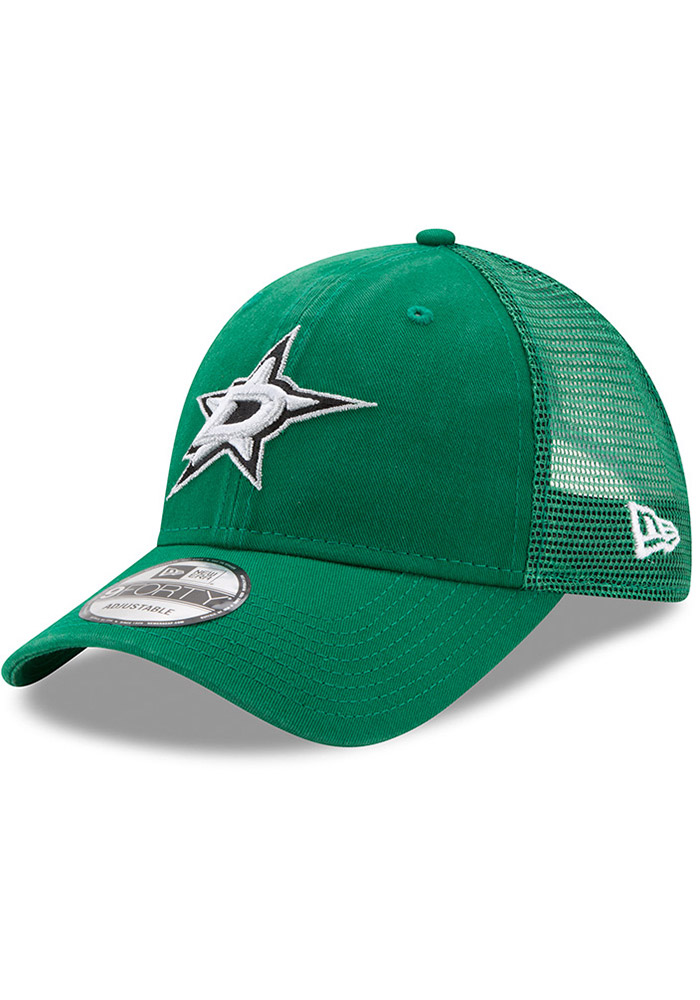 New Era Dallas Stars Trucker Washed 9FORTY Adjustable Hat - Green - Image 1