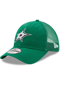Dallas Stars New Era Trucker Washed 9FORTY Adjustable Hat - Green