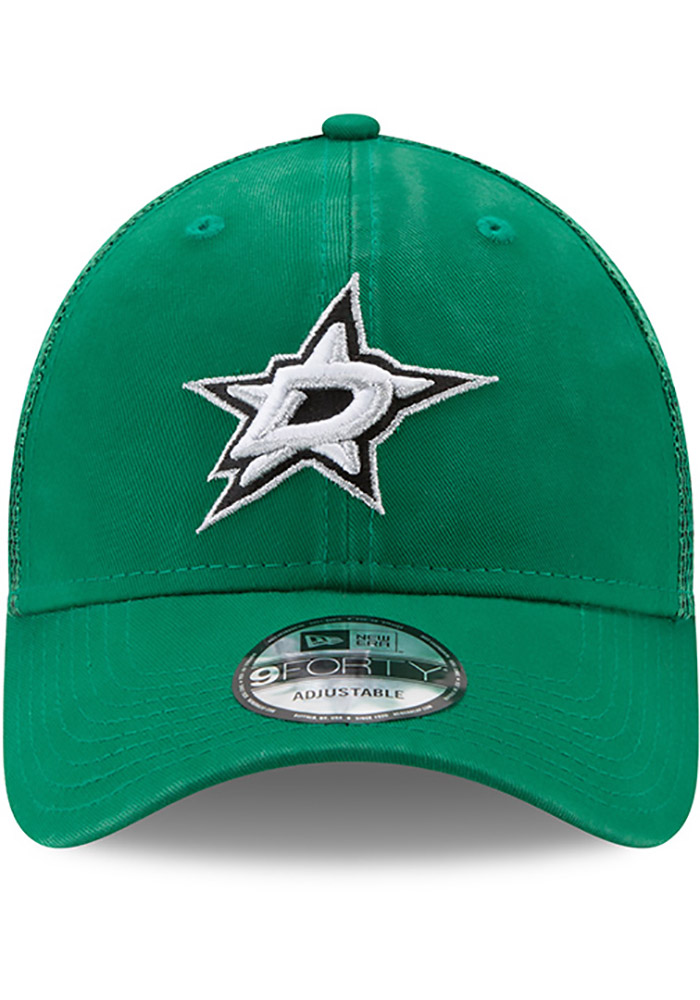 New Era Dallas Stars Trucker Washed 9FORTY Adjustable Hat - Green - Image 3