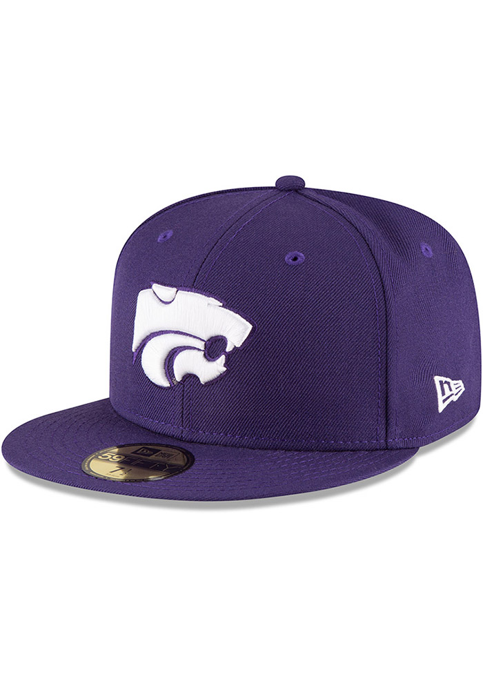 New Era K-State Wildcats Mens Purple 59FIFTY Fitted Hat - Image 1
