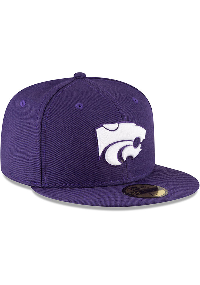 New Era K-State Wildcats Mens Purple 59FIFTY Fitted Hat - Image 2
