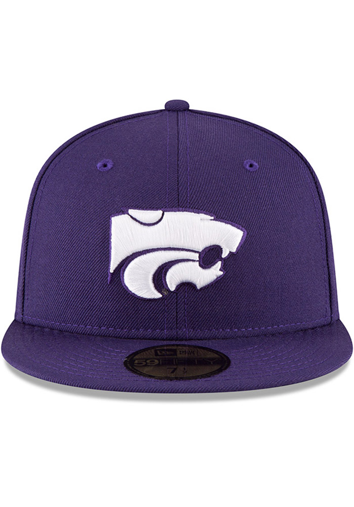 New Era K-State Wildcats Mens Purple 59FIFTY Fitted Hat - Image 3