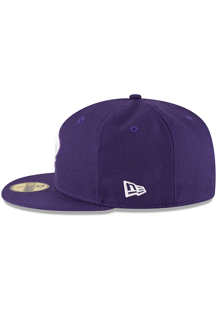 New Era K-State Wildcats Mens Purple 59FIFTY Fitted Hat - Image 4