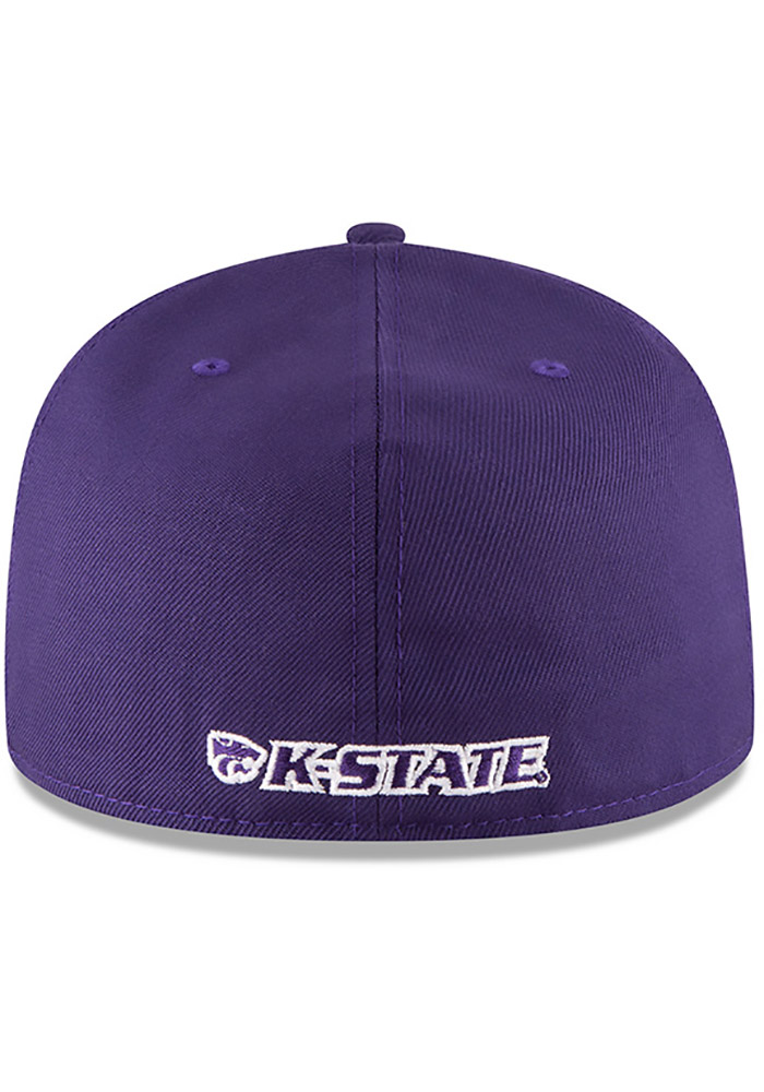New Era K-State Wildcats Mens Purple 59FIFTY Fitted Hat - Image 5
