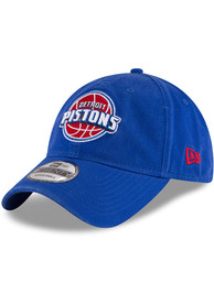 New Era Detroit Pistons Core Classic 9TWENTY Adjustable Hat - Blue