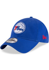Philadelphia 76ers New Era Core Classic 9TWENTY Adjustable Hat - Blue