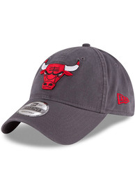 Chicago Bulls New Era Core Classic 9TWENTY Adjustable Hat - Grey