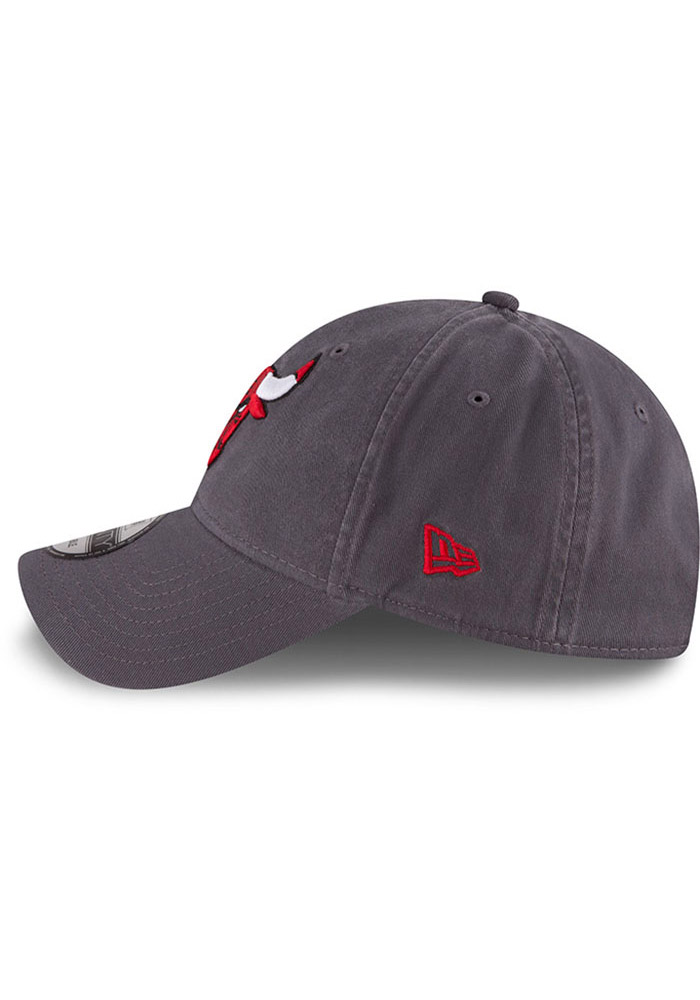 New Era Chicago Bulls Mens Grey Core Classic 9TWENTY Adjustable Hat - Image 4