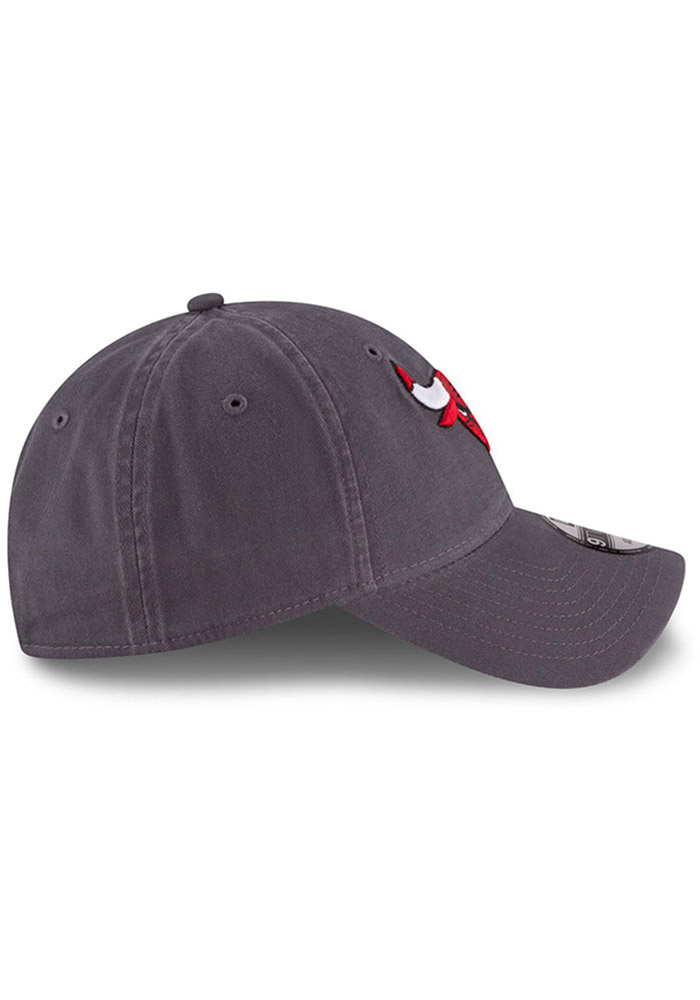 New Era Chicago Bulls Mens Grey Core Classic 9TWENTY Adjustable Hat - Image 6