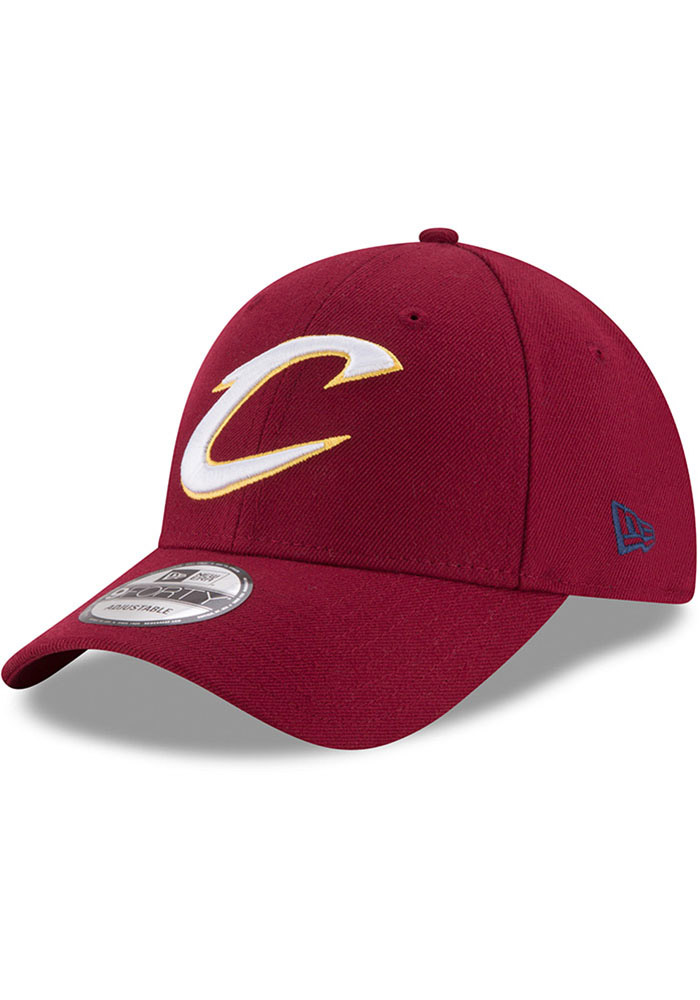 New Era Cleveland Cavaliers Mens Maroon The League 9FORTY Adjustable Hat - Image 1
