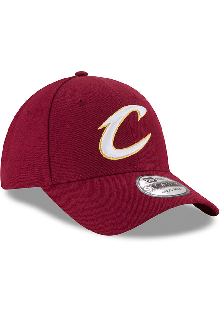 New Era Cleveland Cavaliers Mens Maroon The League 9FORTY Adjustable Hat - Image 2
