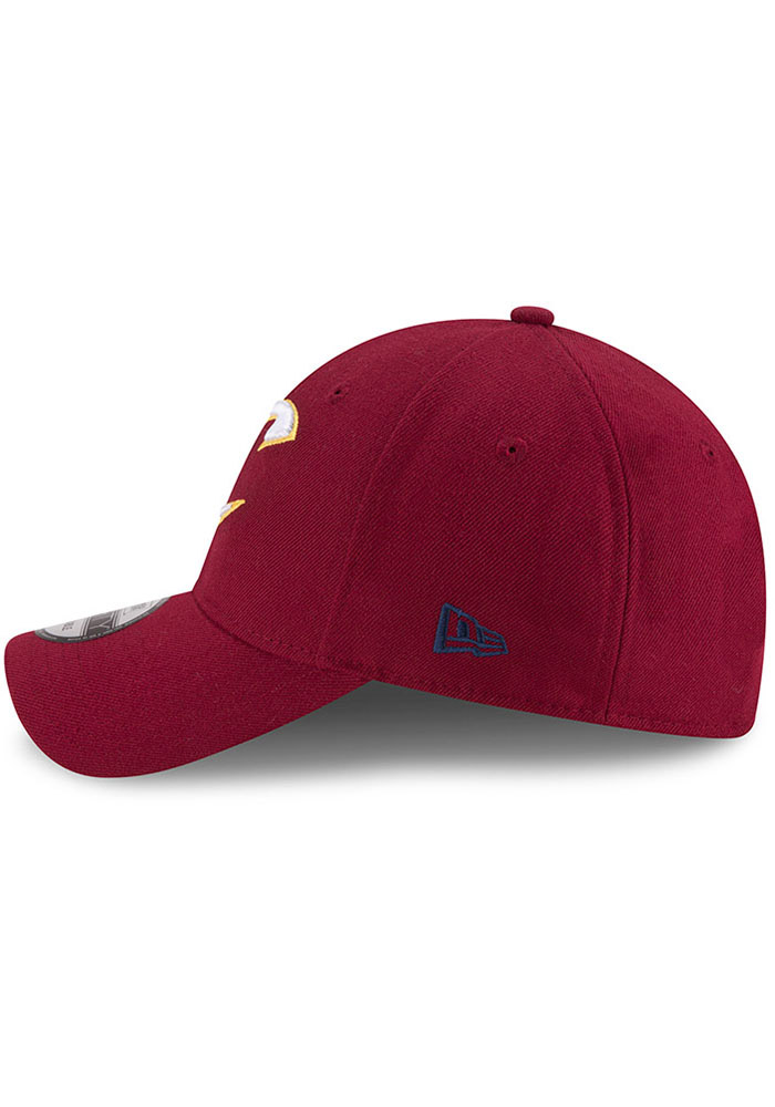 New Era Cleveland Cavaliers Mens Maroon The League 9FORTY Adjustable Hat - Image 4