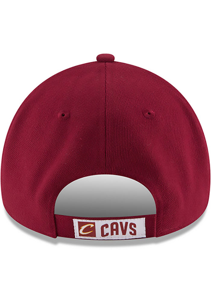 New Era Cleveland Cavaliers Mens Maroon The League 9FORTY Adjustable Hat - Image 5