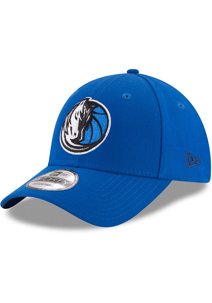 New Era Dallas Mavericks Mens Blue The League 9FORTY Adjustable Hat - Image 1