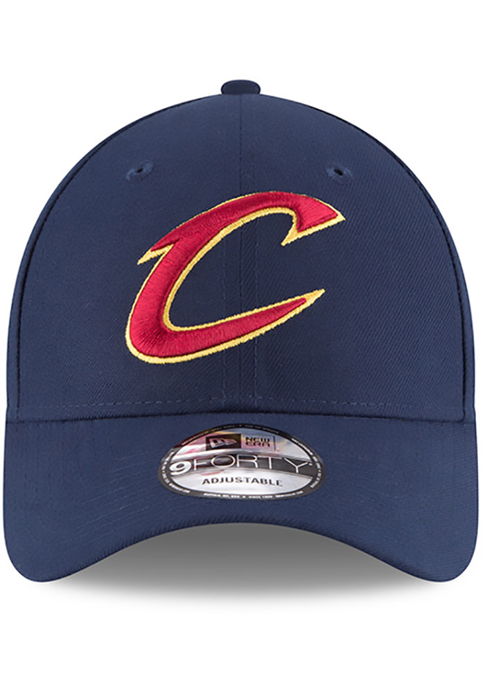 New Era Cleveland Cavaliers Mens Navy Blue The League 9FORTY Adjustable Hat - Image 3