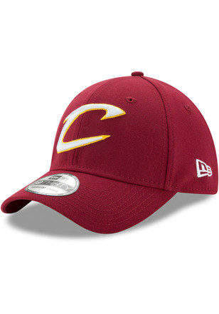 New Era Cleveland Cavaliers Mens Maroon Team Classic 39THIRTY Flex Hat