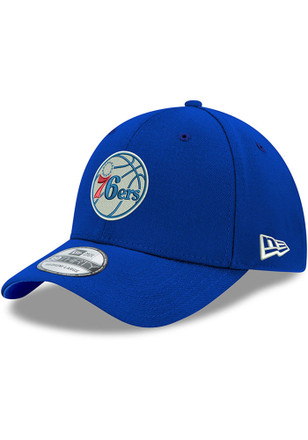 6b61caa3ab3 New Era Philadelphia 76ers Blue Team Classic 39THIRTY Flex Hat