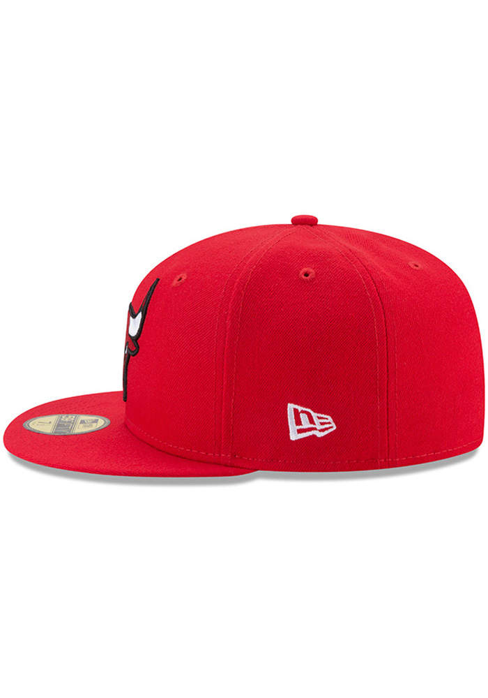 New Era Chicago Bulls Mens Red 59FIFTY Fitted Hat - Image 4
