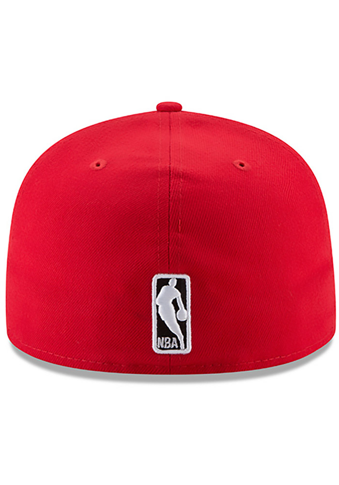 New Era Chicago Bulls Mens Red 59FIFTY Fitted Hat - Image 5