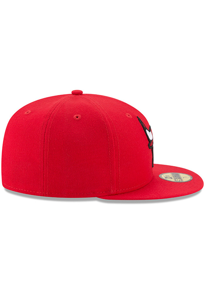 New Era Chicago Bulls Mens Red 59FIFTY Fitted Hat - Image 6