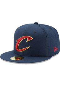 Cleveland Cavaliers New Era 59FIFTY Fitted Hat - Navy Blue