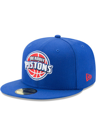 Detroit Pistons New Era Mens Blue 59FIFTY Fitted Hat