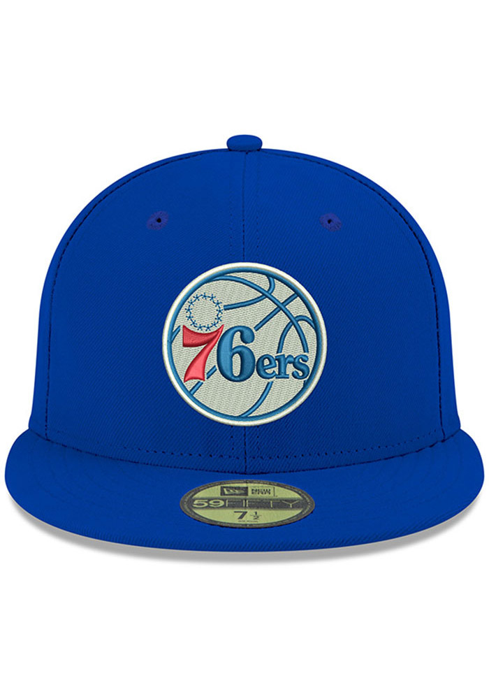 New Era Philadelphia 76ers Mens Blue 59FIFTY Fitted Hat - Image 3