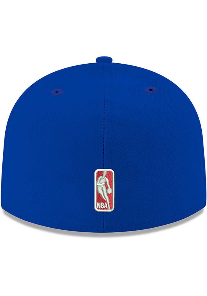 New Era Philadelphia 76ers Mens Blue 59FIFTY Fitted Hat - Image 4