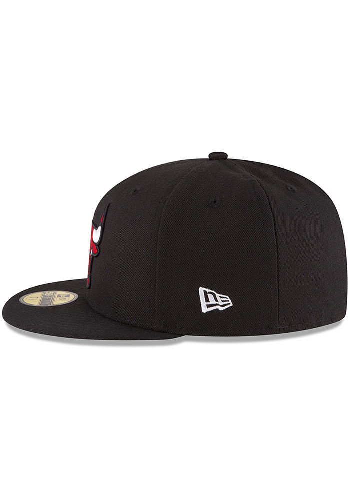 New Era Chicago Bulls Mens Black 59FIFTY Fitted Hat - Image 4