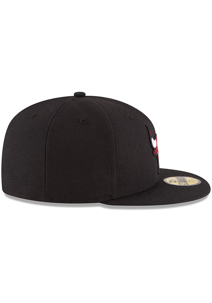 New Era Chicago Bulls Mens Black 59FIFTY Fitted Hat - Image 6